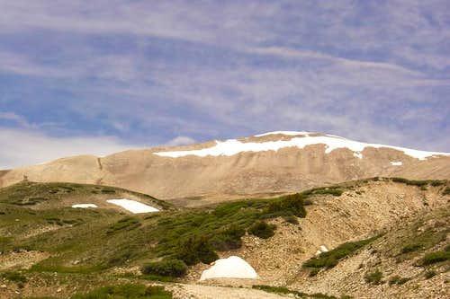 Mt Sherman ridge showing the...