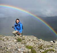 Rainbow seen from Baldy...