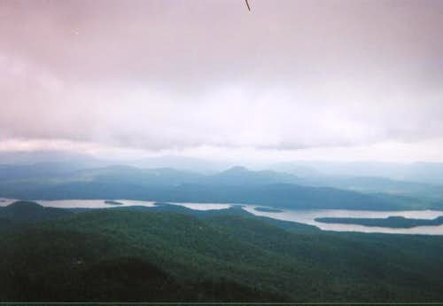 Indian Lake below the clouds...