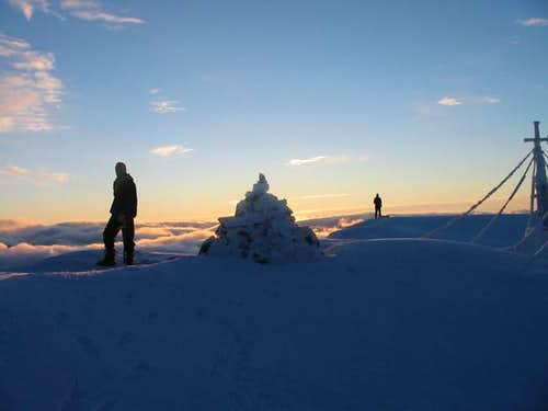 Summit of Kaskasatjåkka,...