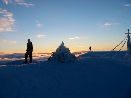 Summit of Kaskasatjåkka,...