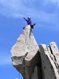 Samantha on the summit...