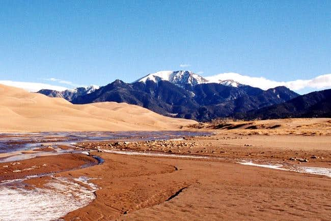 Mt. Herard from Medano Creek...