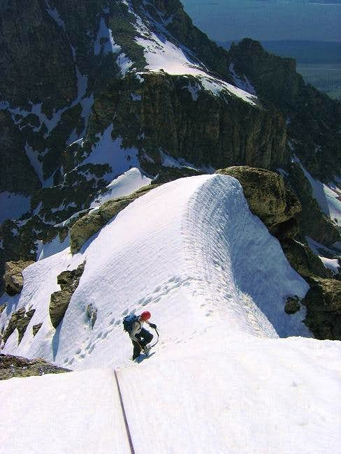 Brian nears the top of pitch...