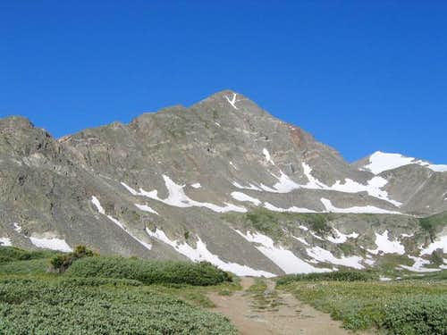 Father Dyer Peak above the...