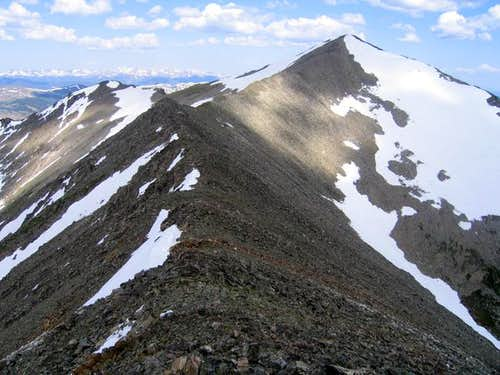 A view of the easy ridge from...
