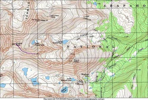 This TOPO shows the route...