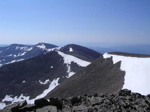 Looking from the summit of...