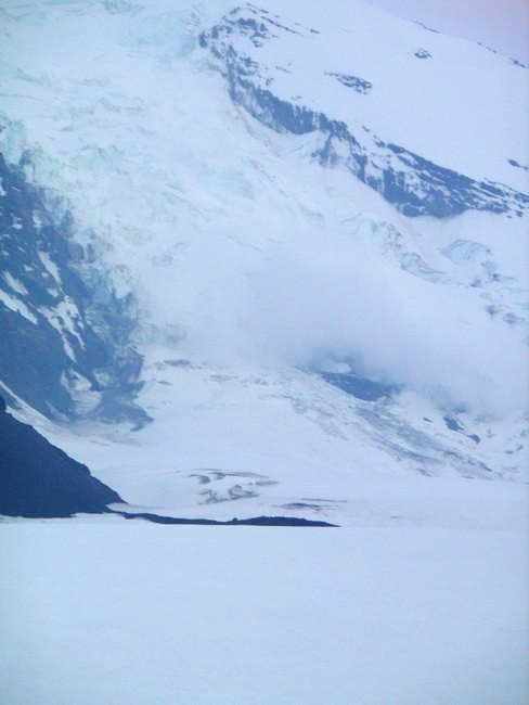 Avalanche on Adams glacier. A...