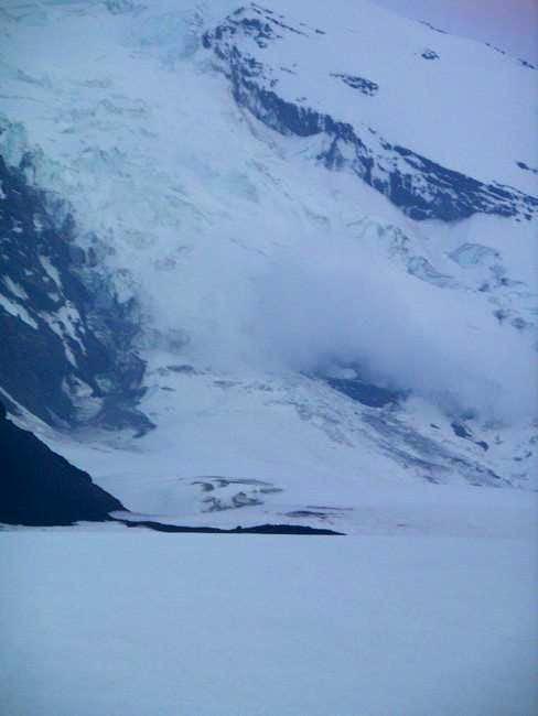 Avalanche on Adams glacier. A...