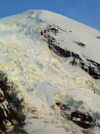 The Adams glacier, showing...