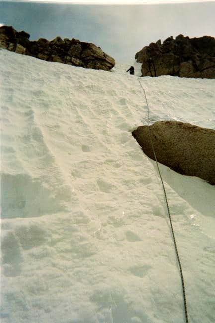 Me heading up a couloir on...