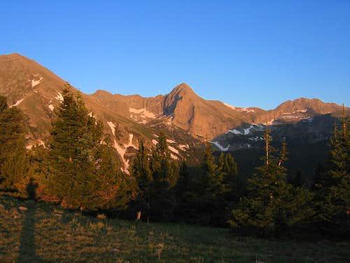Tijeras Peak and Music Mtn.