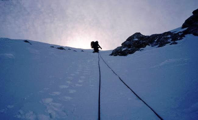 Climb the north face route of...