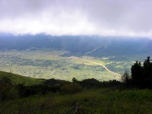Dugo polje valley from Veliki...