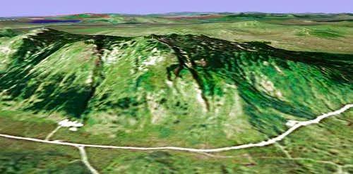 Veliki Vran by Google Earth.