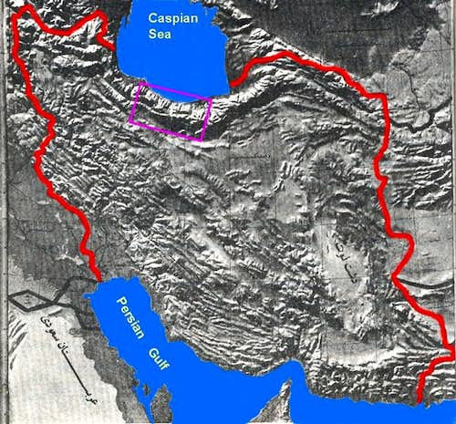 Location of Central Alborz in Iran