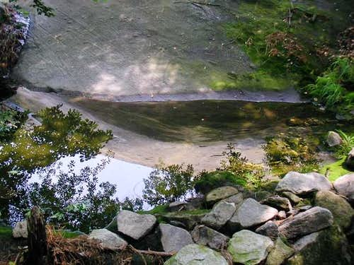 Hidden small pool reflecting...