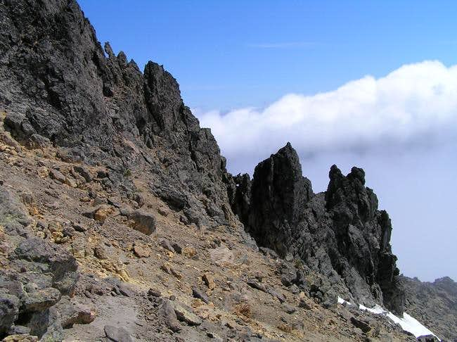 Route is atop this ridge