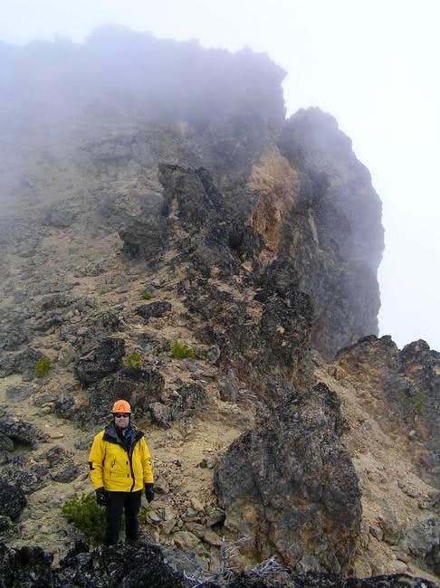 After descending the ridge...