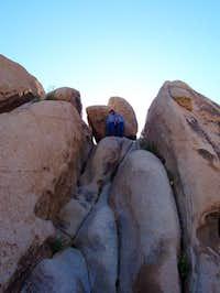 Ellis and Jack on the rocks...