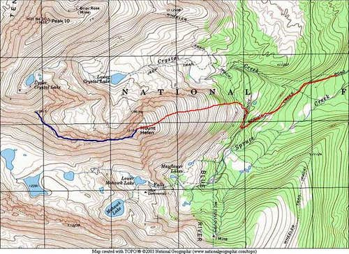 This TOPO is a route overview...