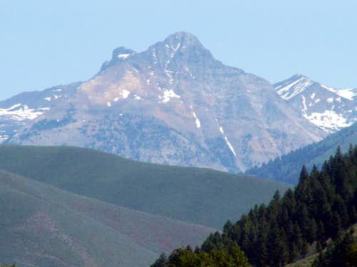 Cobb Peak from East Fork Road...