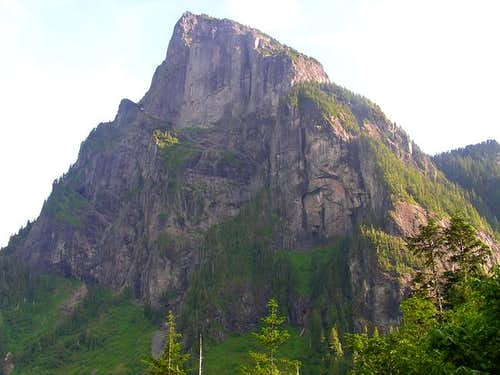 North face of Mount Baring as...