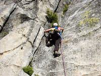 Cathy on P1 of Haystack Crack...