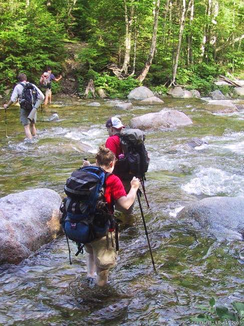 Crossing Franconia Brook. ...