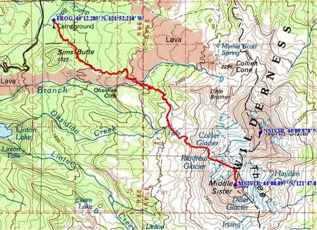 Overview of the entire route.