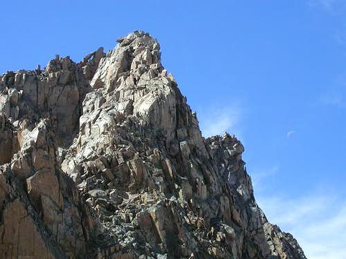 Moon beside Granite Peak. The...