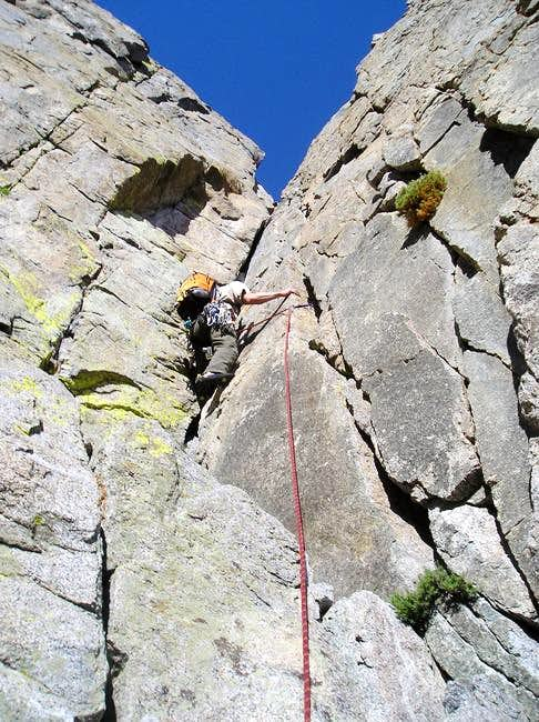 First Pitch of Sun Ribbon Arete