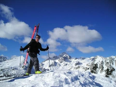 summit with triglav in...