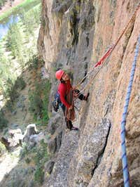 Shirley belaying me from...