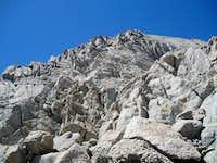 Class 4 rock on Basin Mountain