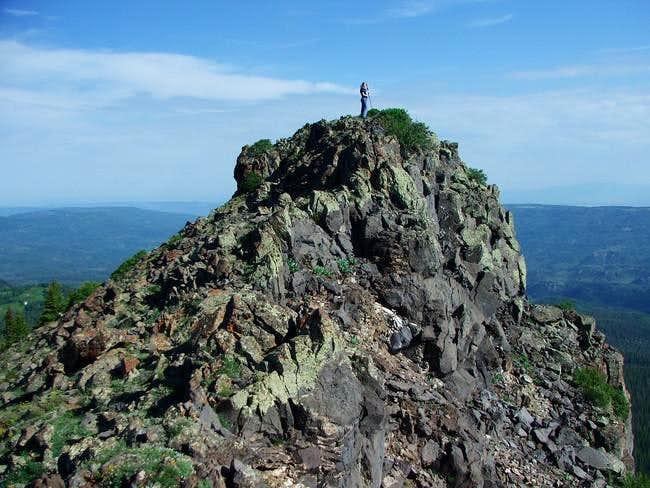 The summit ridge of Pyramid...