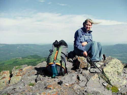 The summit of Pyramid Peak....