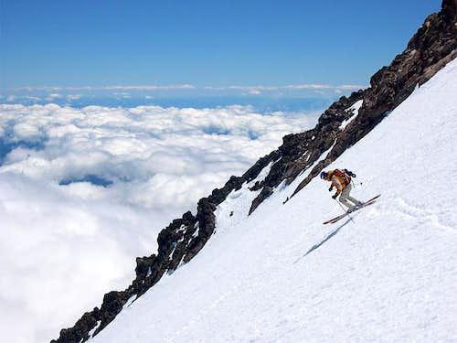 I'm having fun skiing the...
