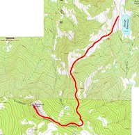 Sheriff's Reservoir route to...