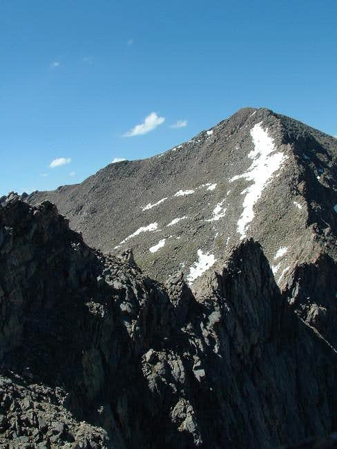 Sawtooth ridge from N.W July...