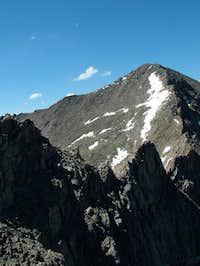 Sawtooth ridge from N.W July...