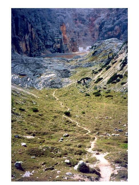 A path at the bottom of Croda...