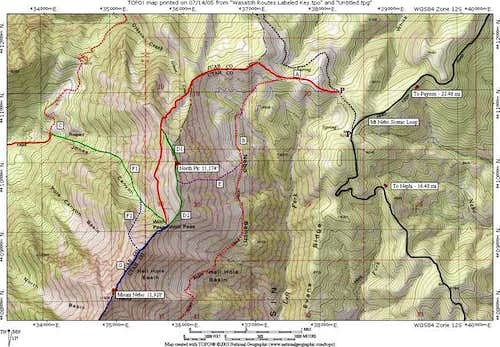 Mt Nebo NE Routes Overview...