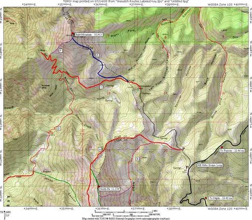 Bald Mountain Routes...