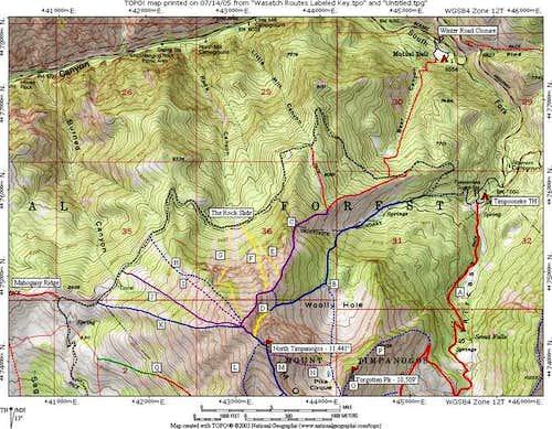 North Timpanogos Routes...