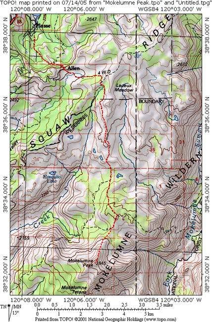 Trail map showing the...