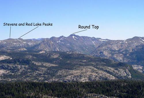 Carson Pass area from the...