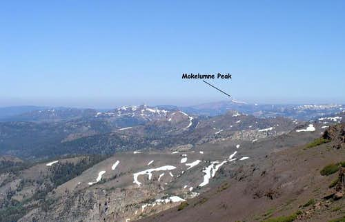 Mokelumne Peak as seen from...