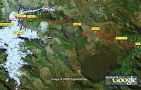 Route to the Mismi. Google...
